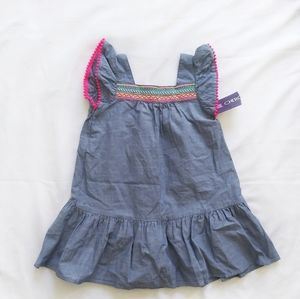 NWT Cherokee Summer dress with pompoms 100% Cotton